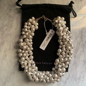 NWT Ann Taylor Twisted Pearl Strand Necklace